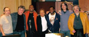 King of In Between session, Brooklyn, 2011 with Brian Mitchell, Duke Levine, Mike Merritt, GJ, Steve Jordan, Larry Campbell, Alan