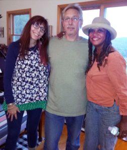 Leslie, Mike, Sherryl at Freedacres, 2016 Eco-Evolution sessions